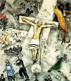 Fig. 14 Marc Chagall, White Crucifixion (1938).