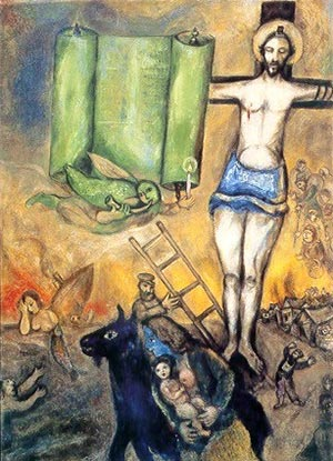 Fig. 16 Marc Chagall, Yellow Crucifixion (1943).