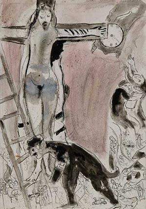 Fig. 3 Marc Chagall, Apocalypse in Lilac, Capriccio (1947).