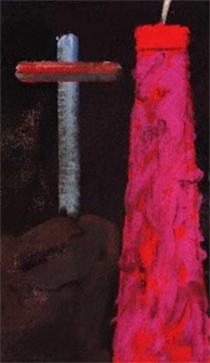 Fig. 5 RB Kitaj, Passion: Cross and Chimney, detail (1985).
