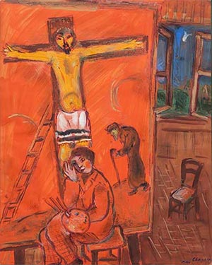 Fig. 7 Marc Chagall, The Painter and Christ (1940).