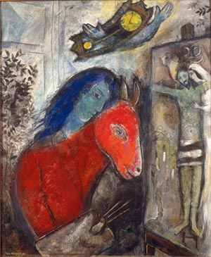 Fig. 8 Marc Chagall, Self Portrait with Clock (1947).